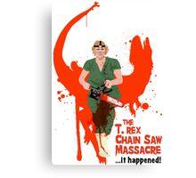 The T. rex Chainsaw Massacre Canvas Print