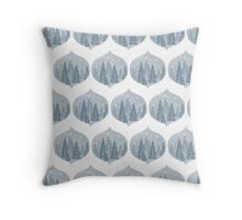 Holiday/Winter Decor in Blue Throw Pillow