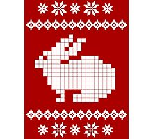 Rabbit Ugly Christmas Sweater Photographic Print