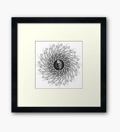 Jellyfish spin 360 Framed Print