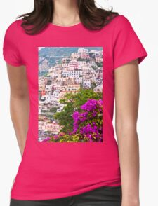 Positano Purple Womens Fitted T-Shirt