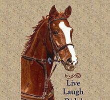 Live Laugh Ride! Horse iPhone, iPad or iPod Case by Patricia Barmatz