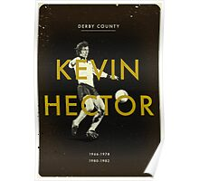 Derby County - Kevin Hector Poster