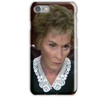 I just don't CARE! Judge Judy iPhone Case/Skin