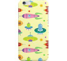 cartoon spaceships launch 3 iPhone Case/Skin