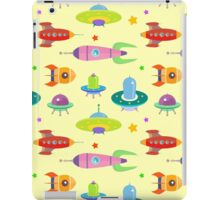 cartoon spaceships launch 3 iPad Case/Skin
