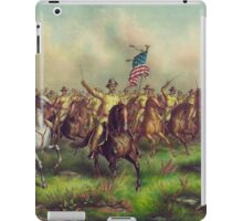 Theodore Roosevelt and the Rough Riders Charging San Juan Hill iPad Case/Skin