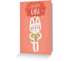 Birthday Girl Bunny Greeting Card