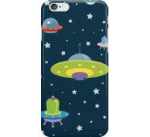 cartoon spaceships launch 4 iPhone Case/Skin
