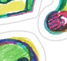 Cute Alien Kawaii Dessert Buffet Sticker