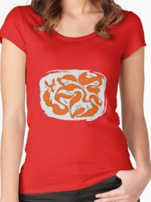 Fox Tail Maze Women's Fitted Scoop T-Shirt