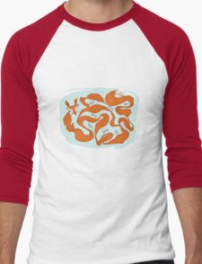 Fox Tail Maze Men's Baseball ¾ T-Shirt
