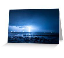 Lightning at Scarborough Greeting Card