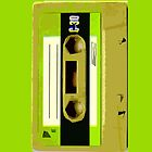 Retro Green Audio Cassette Tape by HighDesign