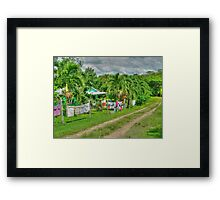 Laundry Day in Bullet Tree Falls Village - Belize, Central America Framed Print