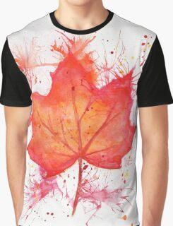 Fall Leaf Graphic T-Shirt