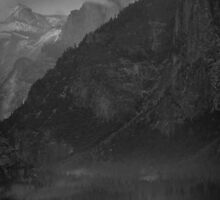 Half Dome in B&W by Gary Lange