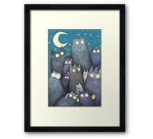 Lots of Cats Framed Print