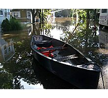 Did You Park Your Canoe In The Middle Of The Street? Photographic Print