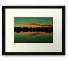 A Scioto River Sunset - Columbus, Ohio Framed Print