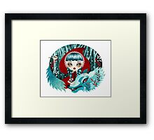 Red of the Woods Framed Print