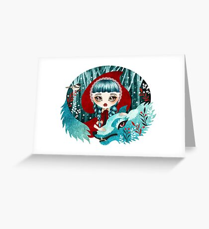 Red of the Woods Greeting Card