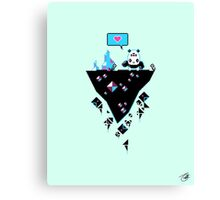 PandaC on Floating Pixel Island Canvas Print