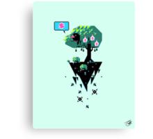 Greedy Grackle - Money Collector Canvas Print