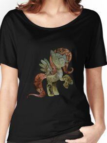 Fluttershy woodart collage Women's Relaxed Fit T-Shirt