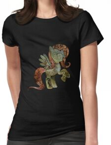 Fluttershy woodart collage Womens Fitted T-Shirt