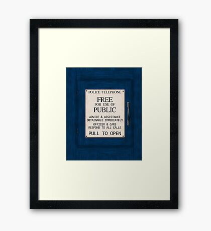 Police Telephone Framed Print