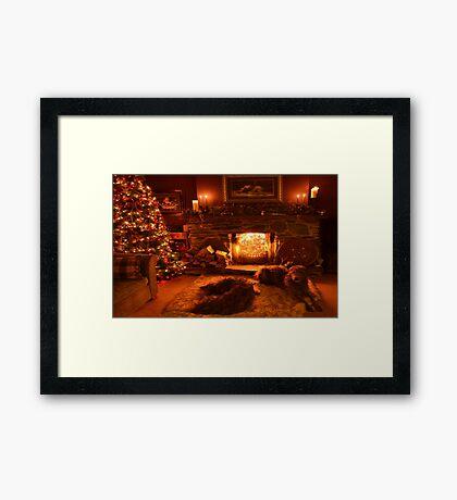 waitin for santa Framed Print