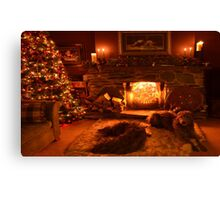 waitin for santa Canvas Print