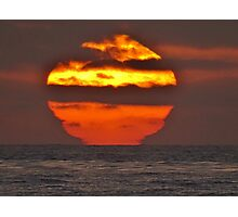 Pacific Ocean Sunset Photographic Print