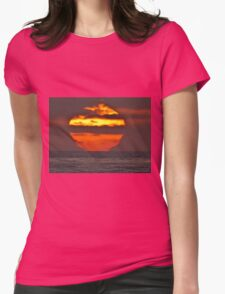 Pacific Ocean Sunset Womens Fitted T-Shirt