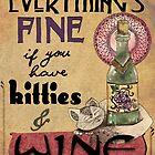 Kitties & Wine by jenndalyn