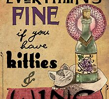Kitties & Wine by jenndalyn