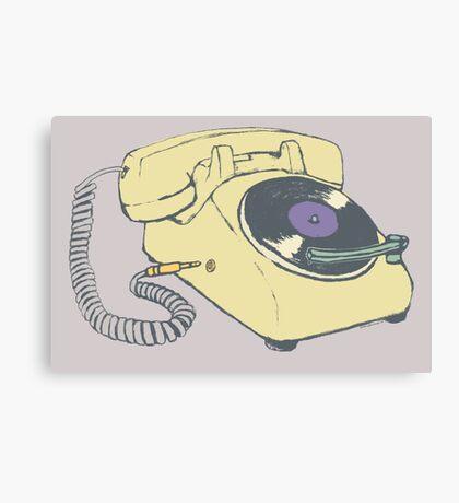 Phone record Canvas Print