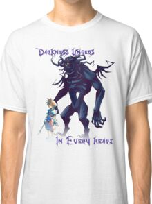 """Darkness Lingers in Every Heart"" Kingdom Hearts Classic T-Shirt"