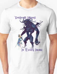 """""""Darkness Lingers in Every Heart"""" Kingdom Hearts Unisex T-Shirt"""