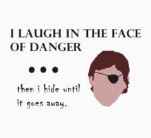 Xander laughing and hiding in the face of danger by AlaJonea