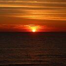 Sun Settling on Gulf by Bob Hardy