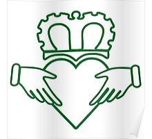claddagh  ireland  irish crown Poster
