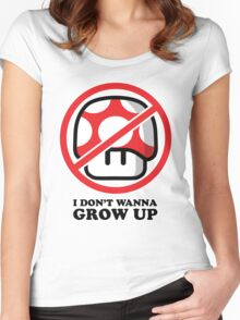I Don't Wanna Grow Up Women's Fitted Scoop T-Shirt
