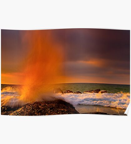 """A Splash Of Orange"" Poster"