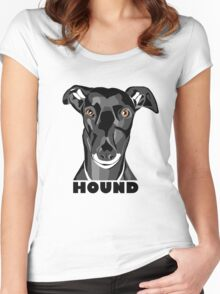Boris the Greyhound mk2 Women's Fitted Scoop T-Shirt