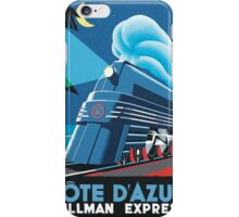 Cote D'Azur Travel Poster iPhone Case/Skin
