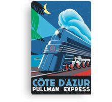 Cote D'Azur Travel Poster Canvas Print