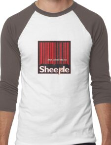 Sheeple StepOutside1 Men's Baseball ¾ T-Shirt