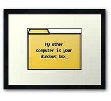 My Other Computer - Geek Cards Framed Print